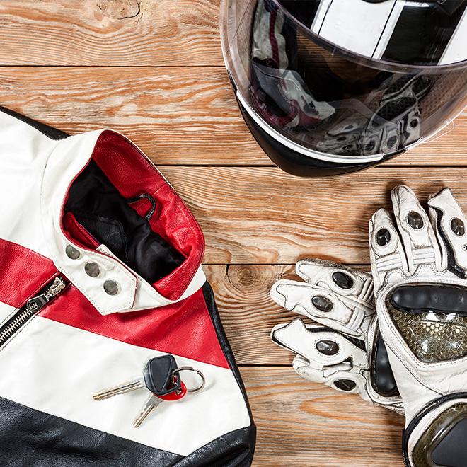 equipamiento de la moto